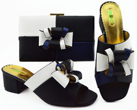 Applique Black+White Shoes and Bag Set for Women Italian Shoes with Matching Bags African Shoes and Bag Set for Party In Women