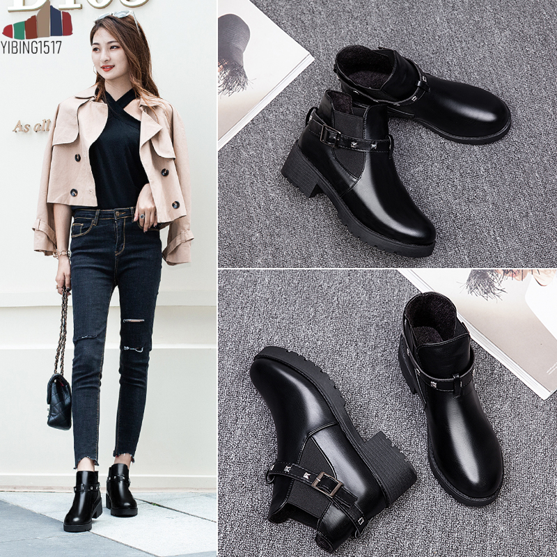 Winter Boots Shoes Heels Lace-Up Classic Suede Women Hot Ankle Plush-Insole Warm-Fur