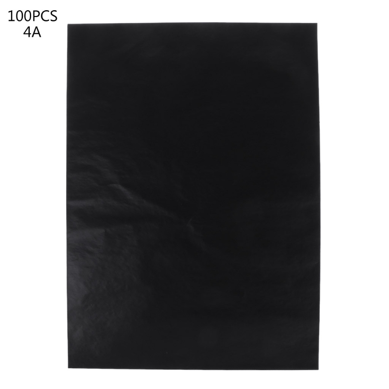 """100 Pcs A4 Black Single Sided Carbon Papers Stencil Hand-pro Copier School Office vic firth pad12 single sided 12"""""""