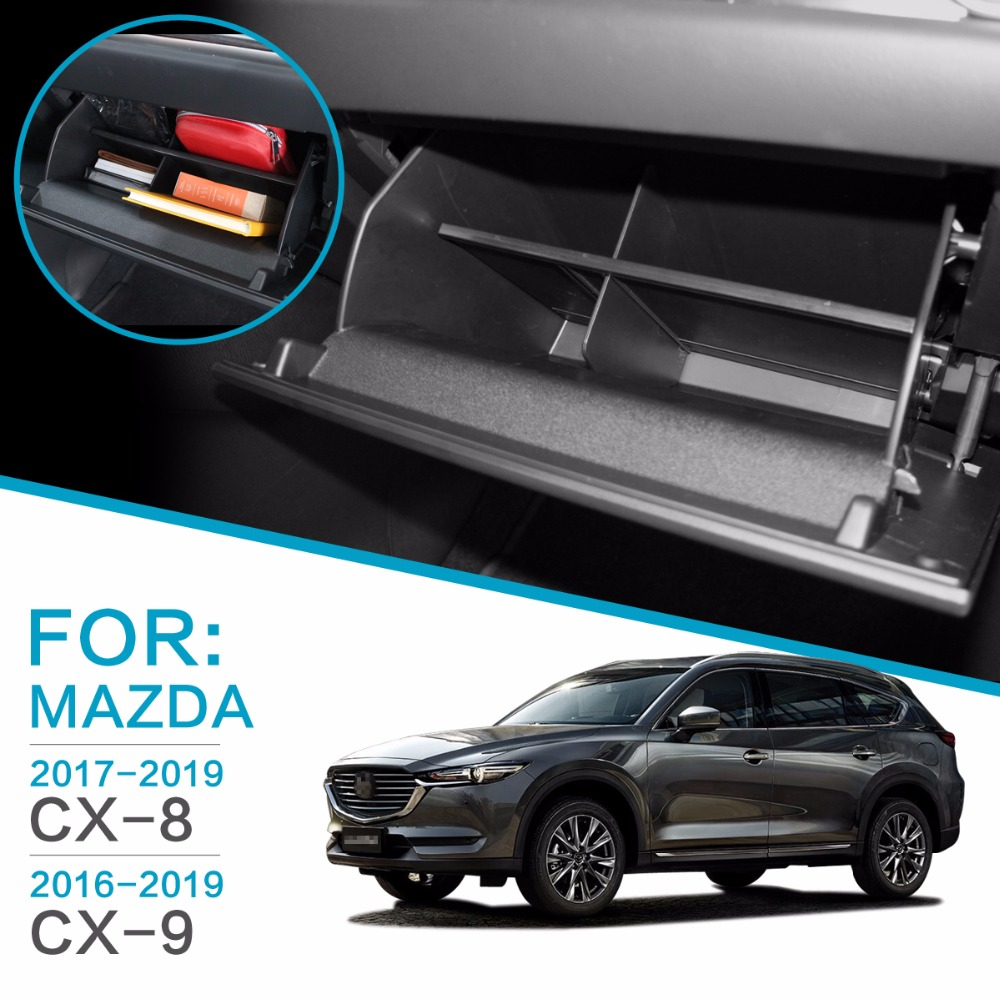 SMABEE For: Mazda CX-8 CX-9 2016-2019 Center Console Organizer Glove Box Organizers Glasses storage Hierarchical space Storage