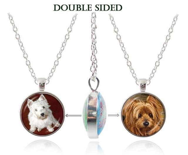 Dog jewelry yorkie necklace glass dome animal art picture pendant dog jewelry yorkie necklace glass dome animal art picture pendant double sided silver statement choker neckless aloadofball Gallery
