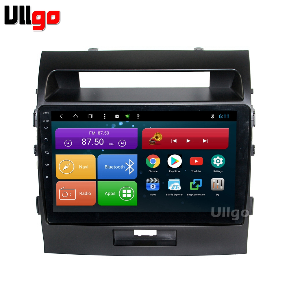 10.1 inch Octa Core Android 8.1 Car DVD GPS for Toyota Land Cruiser 200 LC200 Autoradio GPS Car Head Unit with BT RDS WIFI