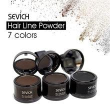 Sevich пудра для наполнения волос, тени для волос, пудра для обрезки лба, пушистая тонкая пудра