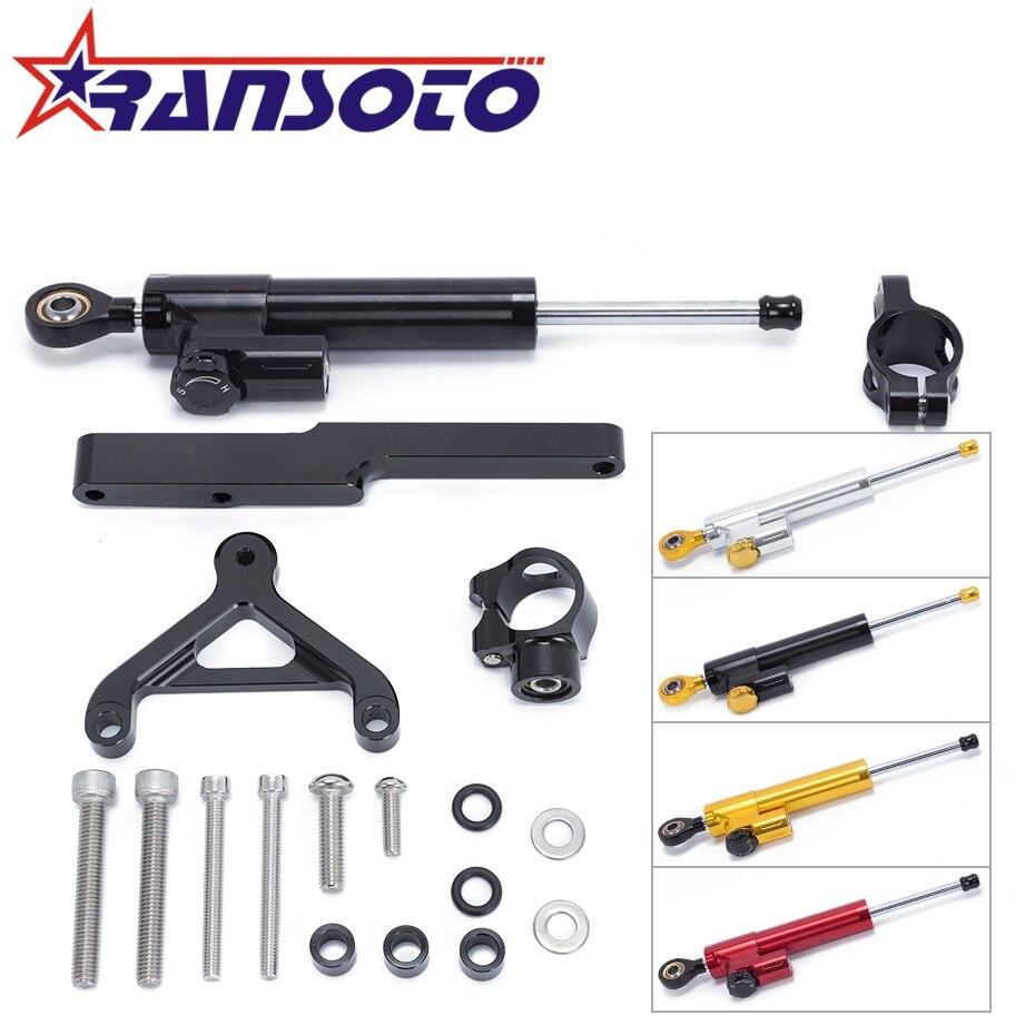 RANSOTO Motorcycle Steering Damper Stabilizerlinear Linear Stabilizer Bracket kit For HONDA CB1000R CB 1000R 2008 2016