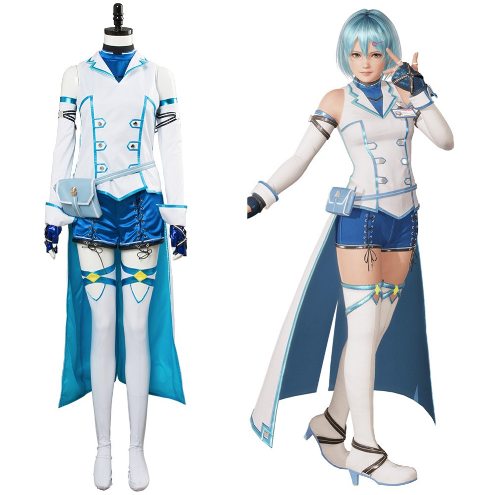 Dead or Alive 6 Nico The Lightning Technomance Cosplay Costume Dress Outfit Suit