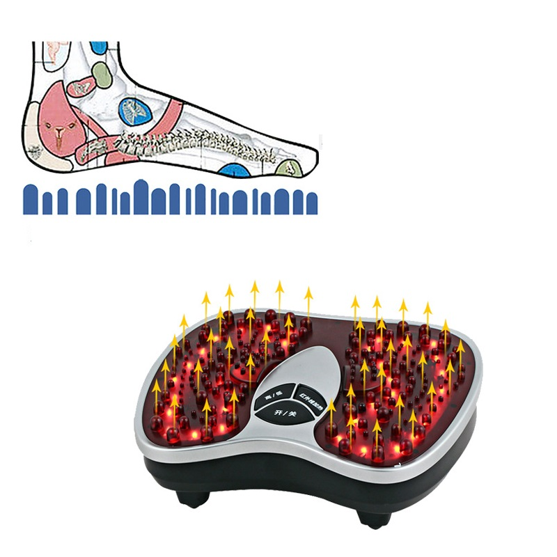 Hot Electric Health Physical infrared reflexology foot Massager electric machine Automatic roller feet care massager therapy  цена и фото
