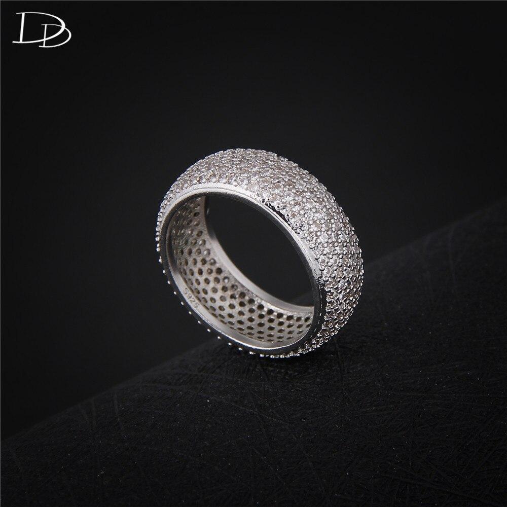Bagues de mode pour femmes bijoux en strass 925 argent sterling à la mode accessoires de mariage fiançailles bijoux en cristal cadeau DD196