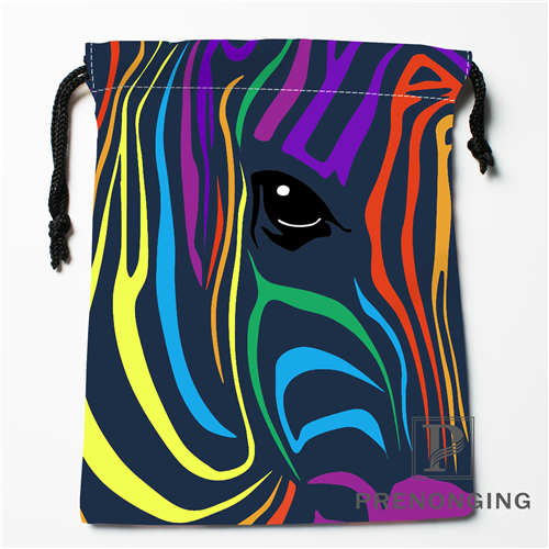 Custom Colorful Zebra Drawstring Bags Printing Fashion Travel Storage Mini Pouch Swim Hiking Toy Bag Size 18x22cm #171203@2-02