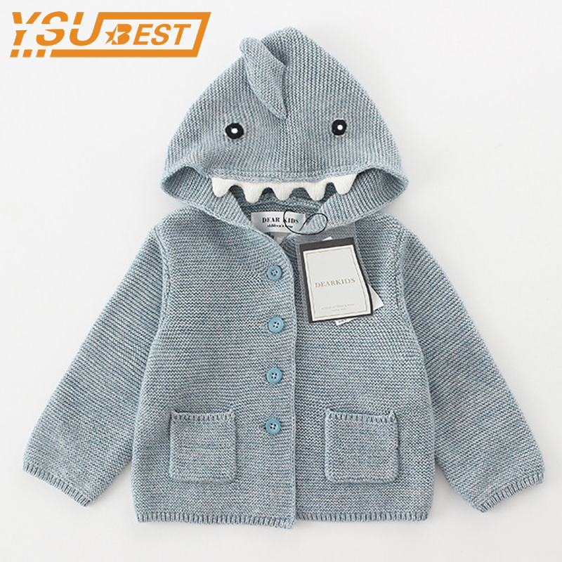 1-6yrs Baby Girls Boys Cardigan Sweater Children Dinosaur Outerwear & Coats 2018 Sweater Fashion Kids Knit Coat Girls Cardigan high quality 2018 spring female knit cardigan coats chic diamond sequins long v neck sweater knit jacket women sueter mujer