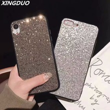 XINGDUO Glitter cute case cover for iphone XS MAX Bling Rhinestone Case Luxury gift X XR 7 8 6 6S Plus