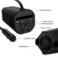 Portable Mini Cup Shape Car Charger Car Power Inverter Cigarette Lighter 12V to 110V AC Socket Splitter for iPAD iPhone Laptop
