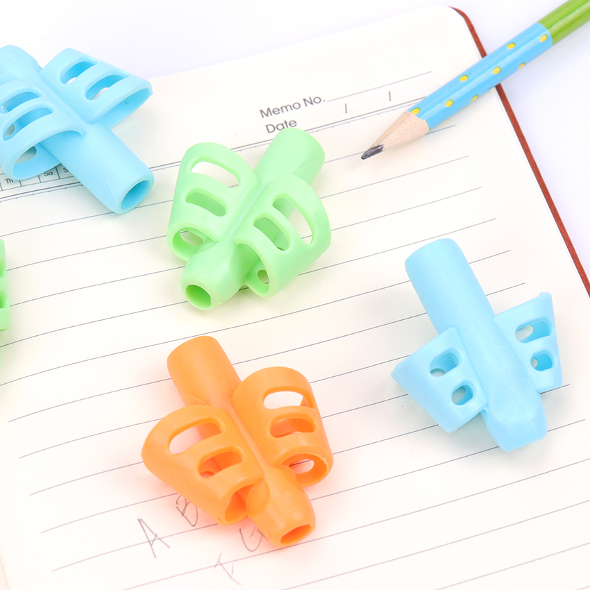 3PCS Learning Partner Children Students Stationery Pencil Holding Practise Device For Correcting Pen Postures Grip