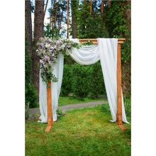 Laeacco Wedding Curtain Flowers Lawn Spring Scene Photography Backgrounds Customized Photographic Backdrops For Photo Studio