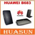 Original desbloqueado huawei b683 21.6 150mbps 3g roteador sem fio hspa + wi-fi sem fio gateway apoio porta usb wcdma 900/2100 mhz