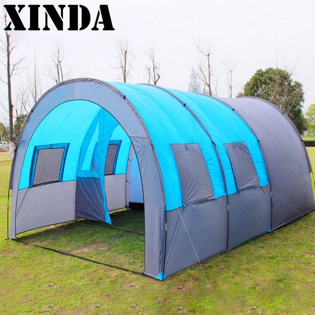 Large Tent Outdoor Tunnel Tent Family Group Tent Waterproof Outdoor C&ing Tent DH0235 & Large Tent Outdoor Tunnel Tent Family Group Tent Waterproof ...