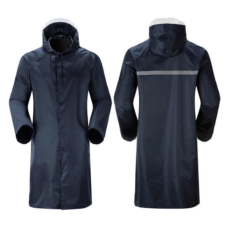 عالية الجودة الرجال معطف واقي من المطر عاكس قطاع سستة طويل معطف واق من المطر ملابس ضد المطر ماء في الهواء الطلق المطر أدوات YY064