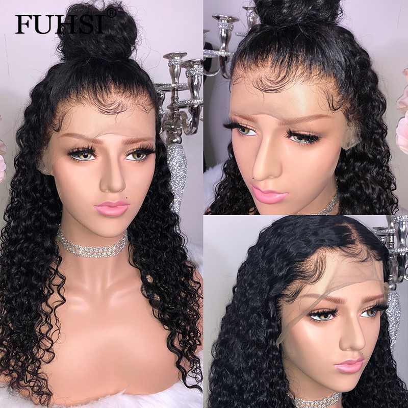 360 Lace Frontal Wigs For Women Black Brazilian Remy Hair Pre Plucked Lace Front Human Hair Wigs With Baby Hair Fuhsi Hair Hair Extensions & Wigs Human Hair Lace Wigs