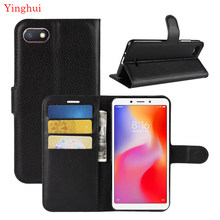For Xiomi Redmi 6A Case Flip Leather Phone Case For Xiomi Redmi 6A Wallet Leather Stand Cover Filp Cases For Xiomi Redmi 6A(China)