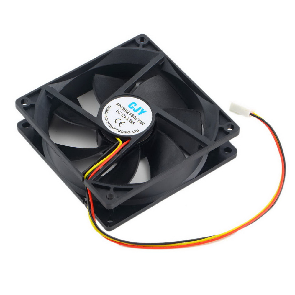 Wholesale Store 12v 3 Pin 9cm 90 X 25mm 90mm 65 Cfm Dc Cooling Fan 3wire To Power Supply 4wire Takeoff Cable Case3pin Cpu Heat Sinks Cooler In Fans From Computer Office On