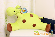 2017 Large Giraffe Cute Cartoon Car Cushion Lumbar Pillow Backrest xmas Gift Plush Toy 70cm*30cm DUDU-CJL