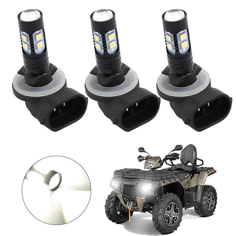 3PCS HEADLIGHT LED BULBS 150W 3600LM 6000K WHITE HIGH POWER 3 PACK For ATV POLARIS SPORTSMAN