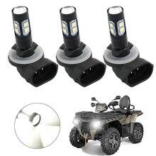 3PCS HEADLIGHT LED BULBS 150W 3600LM 6000K WHITE HIGH POWER 3 PACK for ATV POLARIS SPORTSMAN