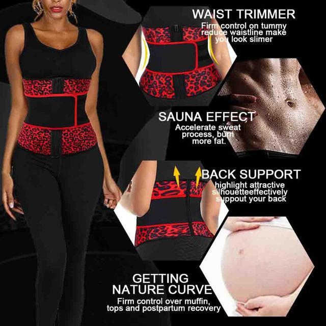 FeelinGirl Neoprene Waist Trainer Girdles 7 Steel Bones Sweat Sauna Body Shapers Slimming Corset Fitness Modeling Belt Faja 2