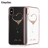KINGXBAR For IPhone X 10 Case Crystals From Swarovski PC Hard Crystal Diamond Rhinestone Case For