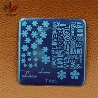 1 Unidades 11 UNIDS Hotsale Patrón de Flor DIY Arte de Uñas de diseño Impresión de la imagen del Sello Polaco Stamping Manicura DIY Plantilla Herramientas 10 estilos