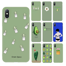 Ottwn Flowers Cactus Avocado Case For iPhone 6 6s 7 8 Plus X XR XS Max 5 5s SE Green Potted Plant Phone Case Soft TPU Back Cover цена и фото