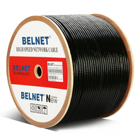 1000ft 305m Outdoor waterproof UTP CAT6 cable HDPE OFC wire box shaft RJ45 network twisted pair for engineering Gigabit Ethernet
