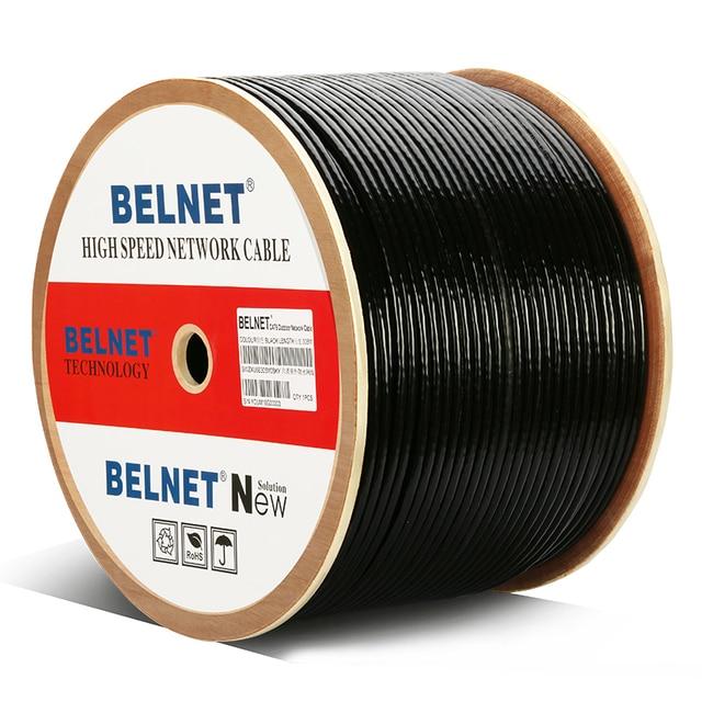 Cable UTP CAT6 impermeable para exteriores de 305 pies y m, caja de alambre de HDPE OFC, eje RJ45, par trenzado para ingeniería, Gigabit, Ethernet