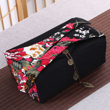 Japanese Style Portable Travel Kung Fu Tea Set Kit Teapot Teacup Tray Tea Accessories with Vintage Printing Storage Bag Hand Bag