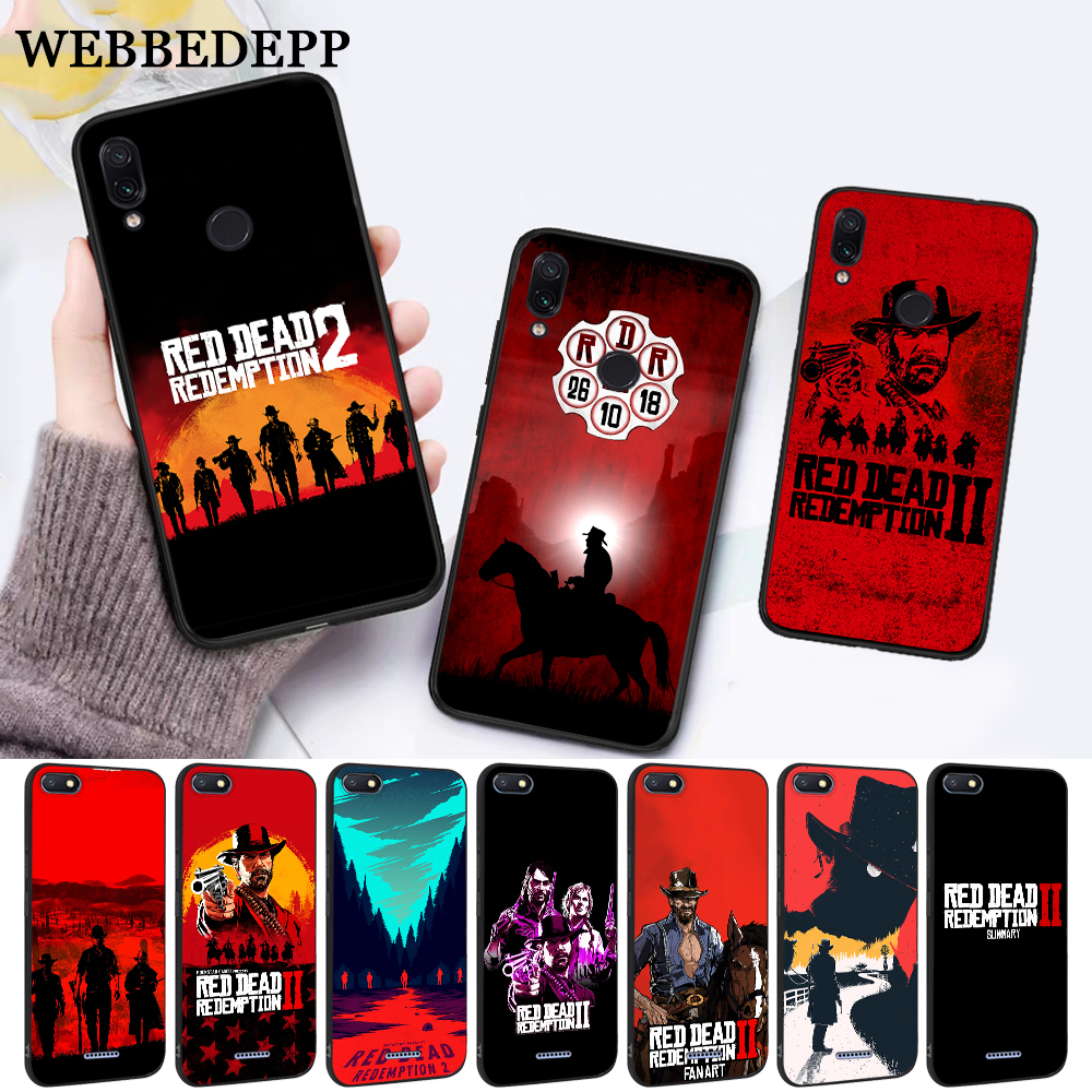 WEBBEDEPP game Red Dead Redemption 2 Silicone Case for Xiaomi Redmi 4A 4X 5A 5 Plus S2 6 6A Note 4 7 Pro Prime Go in Fitted Cases from Cellphones Telecommunications