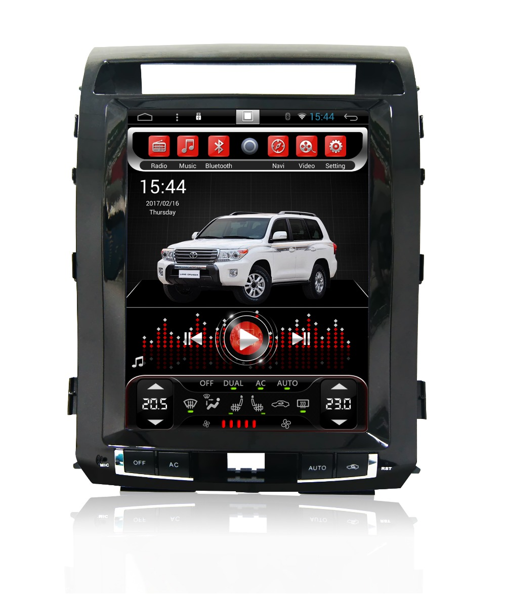 Perfect Navirider Android 7.1 radio tape recorder 4-Core 2GB RAM 32GB rom tesla vertical screen for Toyota  Land cruiser 2012 head units 0