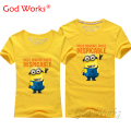 Minions t shirt Stuart tee Top lovers clothes t-shirt  Solid Tees carton Miss Minions Kevin plus size Tshirt Cotton tees