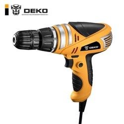 DEKO 220 v 600 w 3/8-Polegada com Keyless All-Metal Chuck Furadeira Elétrica Ferramentas de Torque chave de Fenda Casa ajuste da broca