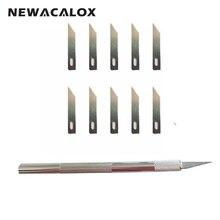 NEWACALOX 12pcs Hobby Knife Blades Precision Utility Film Tools Nicking Pen Scribing Razor Sculpting Tool Cutter