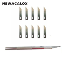 NEWACALOX 12pcs Hobby Knife Blades Precision Utility Film Tools Nicking Pen Scribing Razor Sculpting Tool Cutter Graver Carving