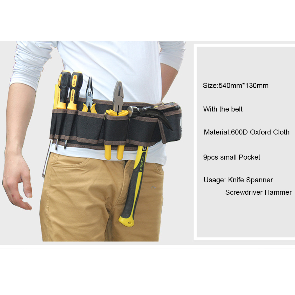 us $7.26 49% off|1pcs durable 600d waist belt tool bag electricians  carpenter repair tools hardware hanging pouch organizer storage kit-in tool  bags