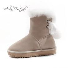 b1eea06ab2d Arden Furtado 2019 autumn winter round toe flats woman shoes ladies ankle  boots grey platform fashion snow boots big size 42 43