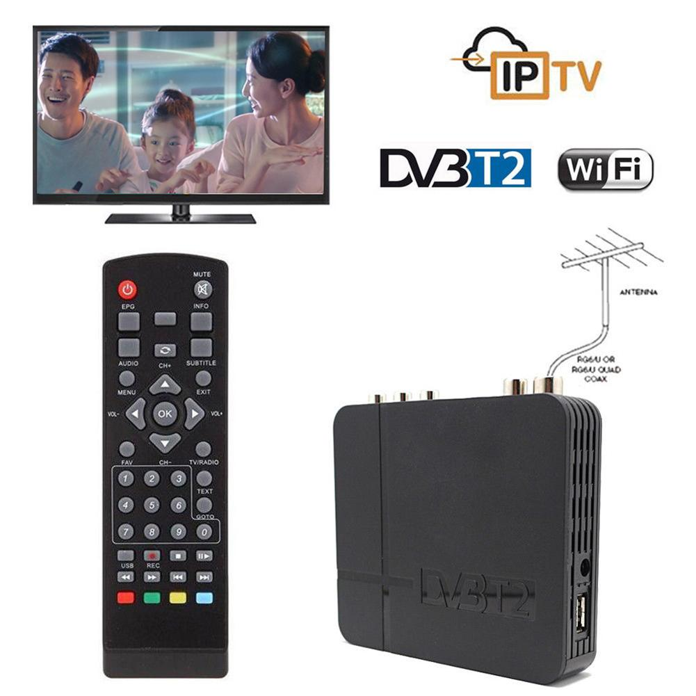Mini HD DVB-T2 K2 WiFi Terrestrial Receiver Digital TV Box With Remote Control