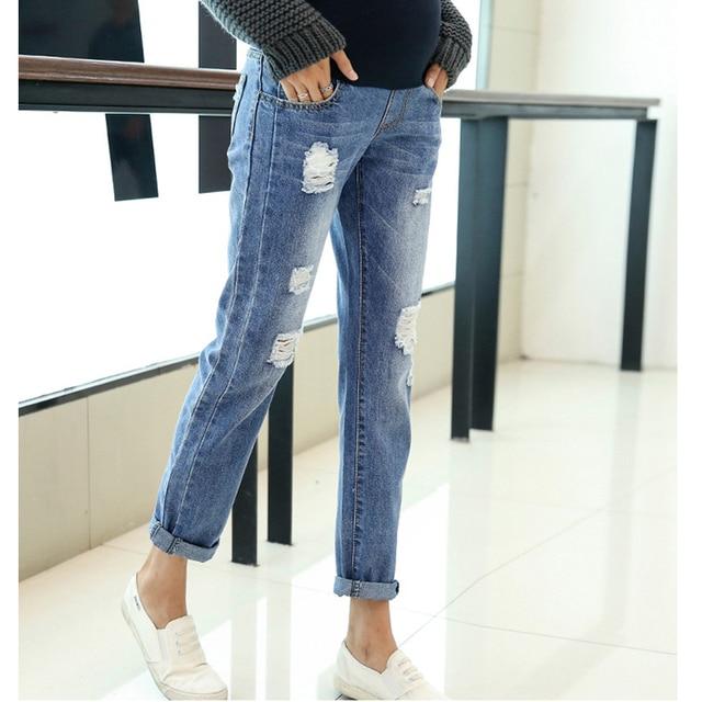 a091feebac1b Maternità Abbigliamento Jeans Pantaloni Per Le Donne In Gravidanza Vestiti  di Cura Infermieristica Pantaloni Gravidanza Tute