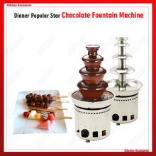 DH296 Electrical Chocolate Fountain Chocolate Melt Fondue waterfall Machine 4/5/6/7 Layers Hotel and Buffet Equipment недорого