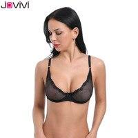 8c51af8cc Jovivi Latest 1pc Women S Sexy Thin Lace Bra Mesh Delicate Underwire  Unlined Demi Bra 1