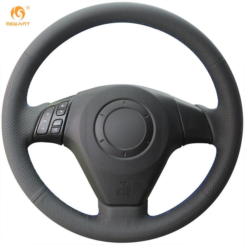 Prix pour Mewant Noir Artificielle En Cuir Couverture De Volant de Voiture pour Vieux Mazda 3 Mazda 5 Mazda 6 2003-2009