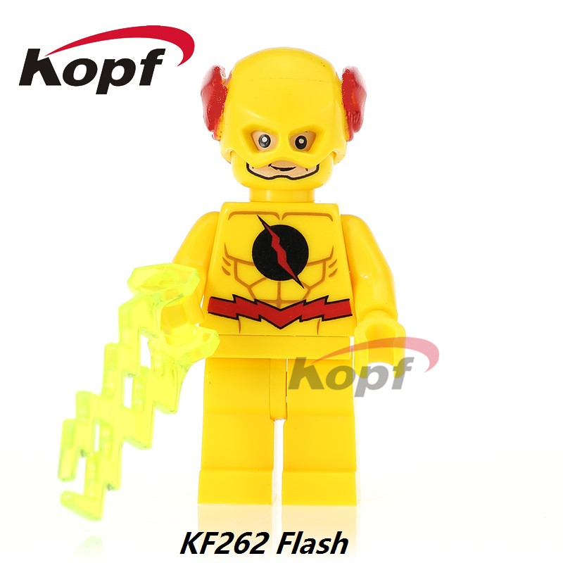 Single Sale Super Heroes Yellow Red Black Flash Bane Green Lantern Firestorm Building Blocks Bricks Toys for children Gift KF262 single sale aquaman reverse flash parademon green lantern booster gold power girl katana building blocks toys for children x0177