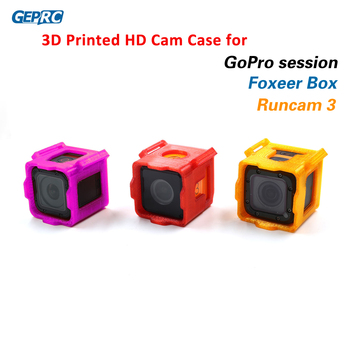 GEPRC 3D Printed TPU Fixed Mount Holder for Runcam 3/Foxeer Box / Gopro Session HD Action Cam FPV Racing Drone DIY Parts 4colors