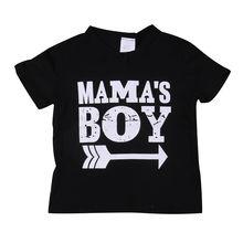 Детские топы с принтом для маленьких мальчиков, Infantil Mama, хлопковая Повседневная футболка с короткими рукавами для маленьких мальчиков, летняя футболка