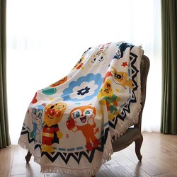 160cm baby blanket cobertor infantil cute cartoon newborn swaddle wrap round play mat tassel bedding cover.jpg 250x250